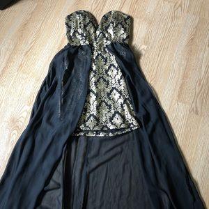 Black and gold agaci dress